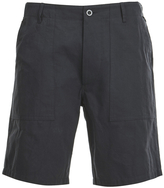 MAISON KITSUNÉ Men's Cotton Worker Shorts Black