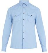 Brunello Cucinelli Slim-fit patch-pocket cotton shirt