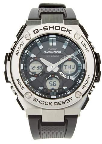 G-Shock BABY-G 'G-Steel' Ana-Digi Resin Strap Watch, 59mm x 52mm