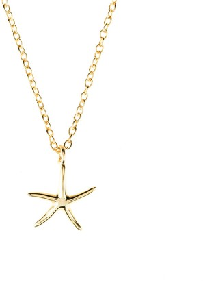 Latelita Petite Starfish Necklace Gold