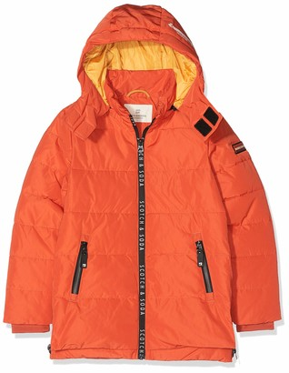 Scotch & Soda Boy's Jacket with Printed Zippers and Detachable Hood