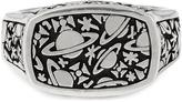 Vivienne Westwood Sterling Silver Angelo Ring Oxidised Rhodium size M