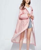 Kance Women's Rain Coats Flesh - Pink Hooded Swing Raincoat - Women & Juniors