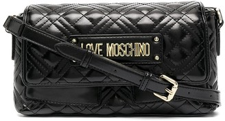 Love Moschino Long Quilted Cross-Body Bag