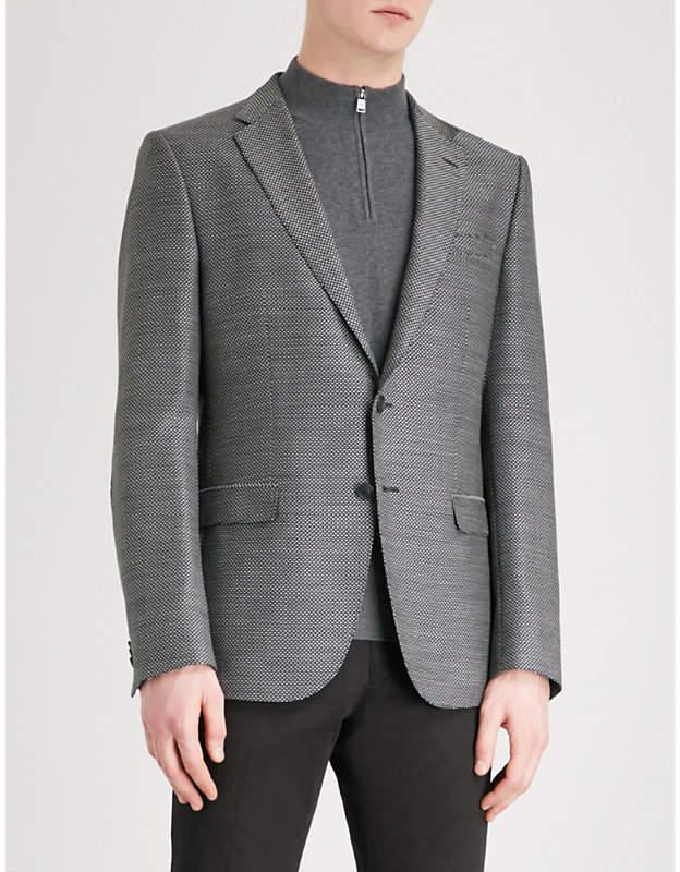 BOSS Slim-fit woven wool jacket