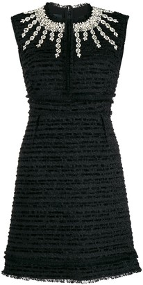 Giambattista Valli Crystal-Embellished Boucle-Tweed Dress
