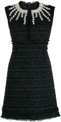 Giambattista Valli crystal-embellished bouclé-tweed dress