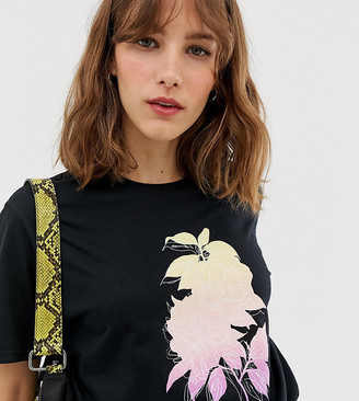 Reclaimed Vintage inspired t-shirt with fluoro flower print