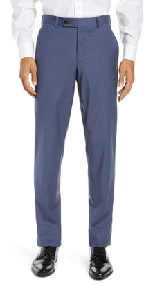 Ted Baker Jerome Flat Front Solid Wool Dress Pants