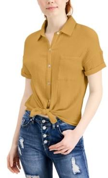 Self Esteem Juniors' Relaxed Button-Up Top