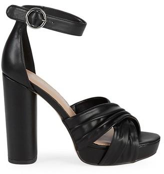 BCBGeneration Flora Leather Ankle-Strap Sandals