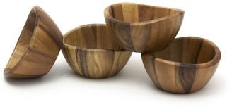 Lipper 1173-4 Acacia 6 x 3 Wave Bowl Set of 4