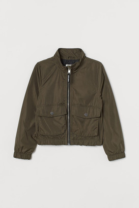 H&M Cropped Bomber Jacket - Green