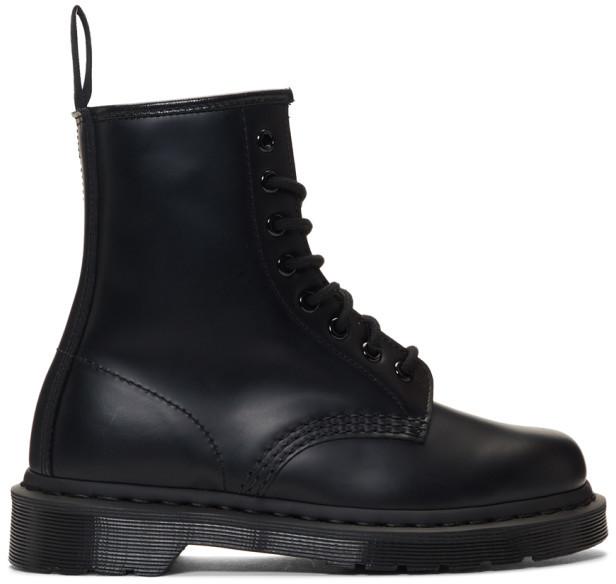 Dr. Martens Black 1460 Mono Lace-Up Boots