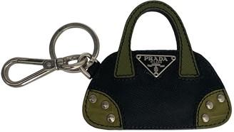 Prada Black Leather Bag charms
