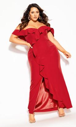 City Chic Savannah Maxi Dress - red