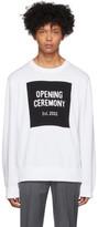 Opening Ceremony White Box Logo Sweater