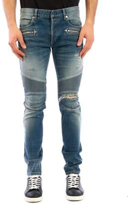 Balmain Jeans In Light Denim