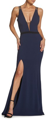 Dress the Population Lana Plunge Neck Mermaid Gown