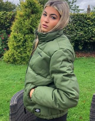 Dickies Rodessa puffer jacket in green