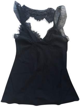 Victoria Beckham Black Silk Tops