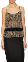 BCBGeneration Print And Pleat Lace Panel Top
