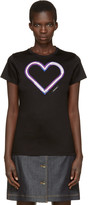 Carven Black Neon Heart T-shirt