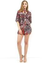 West Coast Wardrobe Cypress Printed Shirt and Shorts Set in Brick Print