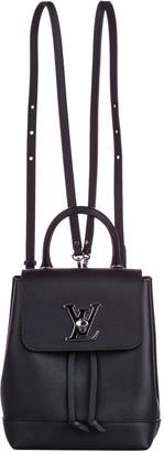 Louis Vuitton Black Leather Mini LockMe Backpack
