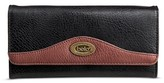 Bolo Women's Faux Leather Wallet with Back/Interior Compartments and Zipper Closure - Walnut