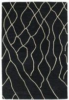 Peaks Hand-tufted Utopia Charcoal Wool Rug (4' x 6')