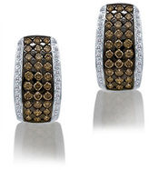 LeVian Chocolatier Chocolate Diamond, Vanilla Diamond, and 14K Vanilla Gold Earrings, 2.06TCW