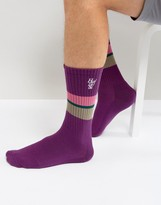 HUF 1984 Stripe Crew Socks