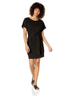 My Michelle Leighton By Junior's Womens Tie Front Ponte Dolman Dress