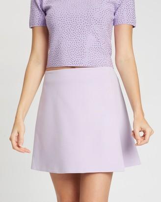 Alice + Olivia Sherilyn Wrap Buttoned Skirt