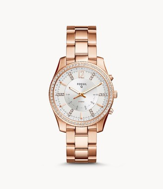 Fossil Hybrid Smartwatch Scarlette Rose Gold-Tone Stainless Steel Jewelry