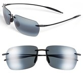 Maui Jim Men's 'Banzai - Polarizedplus2' 61Mm Sunglasses - Gloss Black