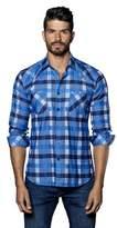 Jared Lang Mens Woven Long Sleeve Shirt.