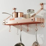 Crate & Barrel Enclume ® Copper Bookshelf Pot Rack