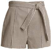 Zimmermann Paradiso gingham drill shorts