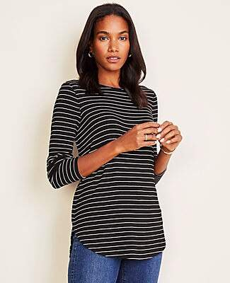 Ann Taylor Striped Tunic Tee