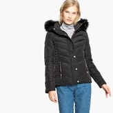 La Redoute Collections Short Padded Down Jacket with Faux Fur Hood and Pockets