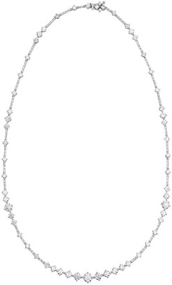 De Beers 18kt white gold Arpeggia one-line diamond necklace