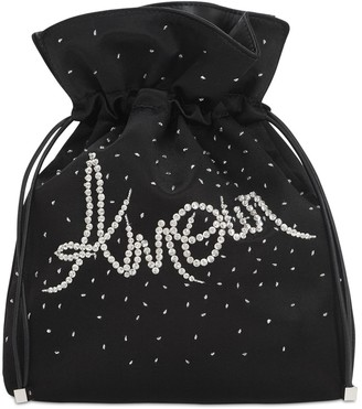 Les Petits Joueurs Trilly Amour Embellished Satin Clutch