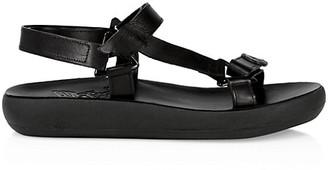 Ancient Greek Sandals Poria Leather Flatform Sport Sandals