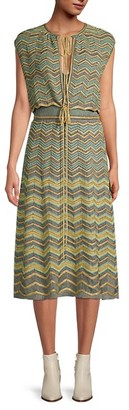 M Missoni Zigzag Blouson Dress