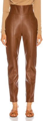 Alexandre Vauthier Leather Pant in Spice   FWRD