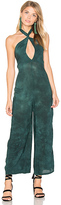 Blue Life Electra Tie Front Jumpsuit in Green. - size L (also in M,S,XS)