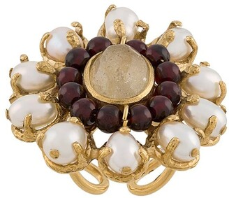 Perle Baroque floral ring