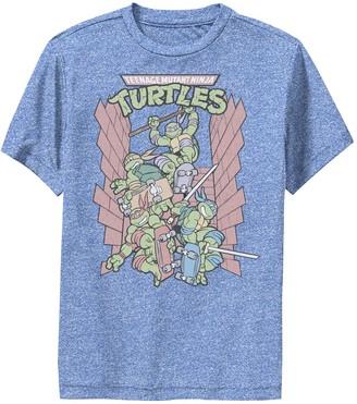 Nickelodeon Boys 8-20 Graphic Teenage Mutant Ninja Turtles Retro Skate Performance Graphic Tee